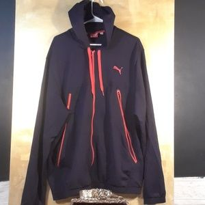 Puma hooded light jacket size xxl